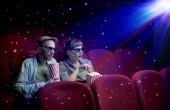 Fotografie Schönes paar beobachten 3D-Film
