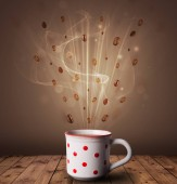 Fotografie Steaming cup of coffee