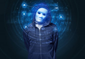 Photo Facial recognition biometric technology