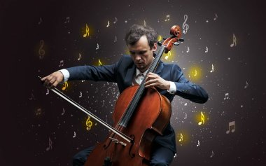 Falling notes with classical musician