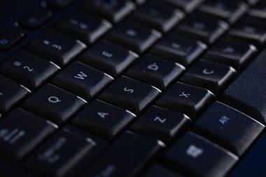 Close-up of a dark keyboard