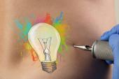 Tetování koncepce na nahá záda