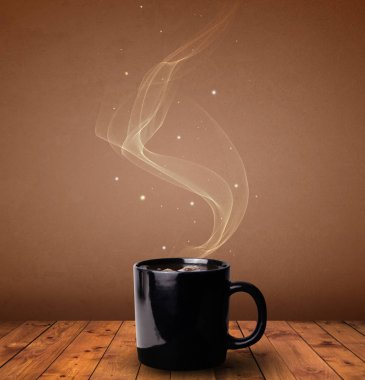 Steaming cup of coffee concept stock vector
