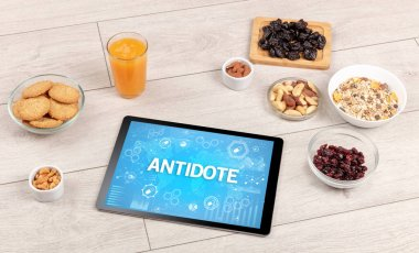 Healthy Tablet Pc compostion, immune system boost concept