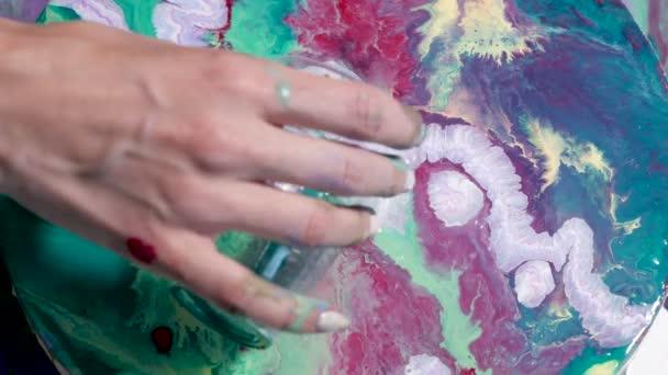 Vytvoření zelené malování na plátně kulatý