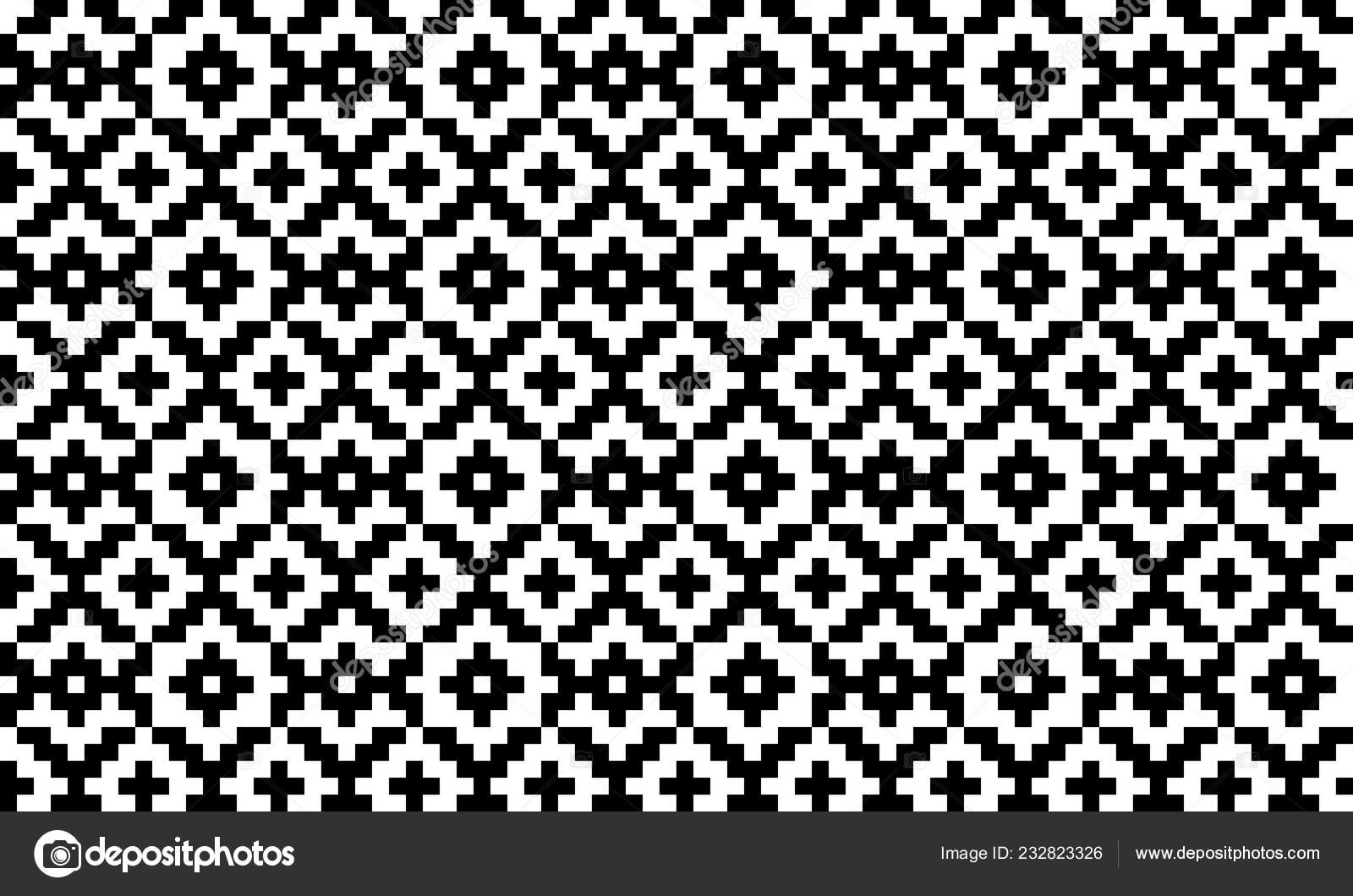Nordische Vektor Geometrische Pixelig Musterdesign