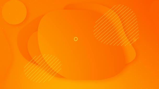 Végtelenített folyékony forró sárga színű őszi animáció. Halloween modern narancssárga absztrakt háttér. Fluid színátmenet futurisztikus formák Motion design. Nyári eladás végső plakát, prezentáció. Fehér szövegkeret