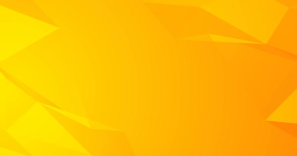 4k yellow orange seamless looped animated background. Layout dynamic flyer cover. Blank minimal polygonal backdrop. Business corporate concept digital image. Place for black logo, birthday party text