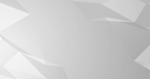 Hellgrau weiße nahtlose Schleife Verlauf abstrakten Hintergrund. Leere minimale polygonale Kulisse. Business-Videopräsentation, Geburtstagsparty-Kulisse. Endloser reiner technologischer Wandel. Platz für Logo-Text