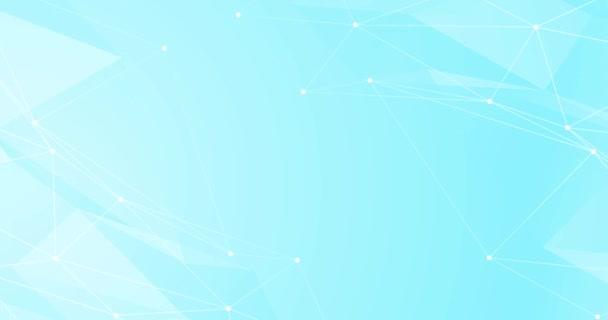 Hellgrau blau weiß Schleife Verlauf abstrakten Hintergrund. Geschäftsvideo Unternehmenspräsentation, geometrischer Hintergrund. Endloser Soft-Tech-Übergang. Text 3D Raum. Netzwerk aus miteinander verbundenen Leitungen