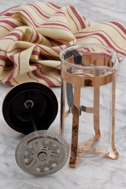 fancy copper french press
