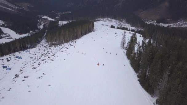 snow mountain Slovakia ski winter Jasna Europa Aerial drone top view