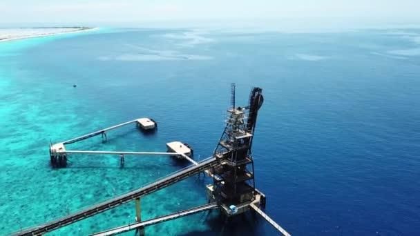 caribbean salt harbor Bonaire island aerial drone top view 4K UHD