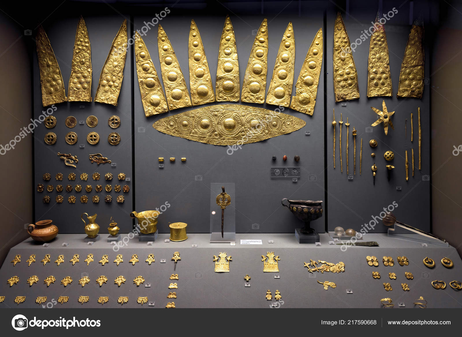 Athens May 2018 Gold Jewelry Ancient Greek Mycenae Golden