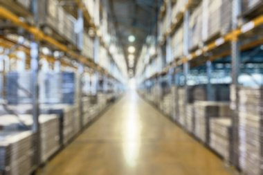 Warehouse as creative abstract blur background