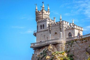 Swallow's Nest at the Black Sea coast close-up, Crimea