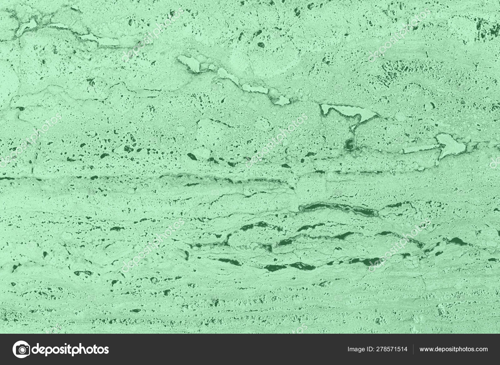 Closeup Of Mint Colored Porous Stone Textured Wall Stock