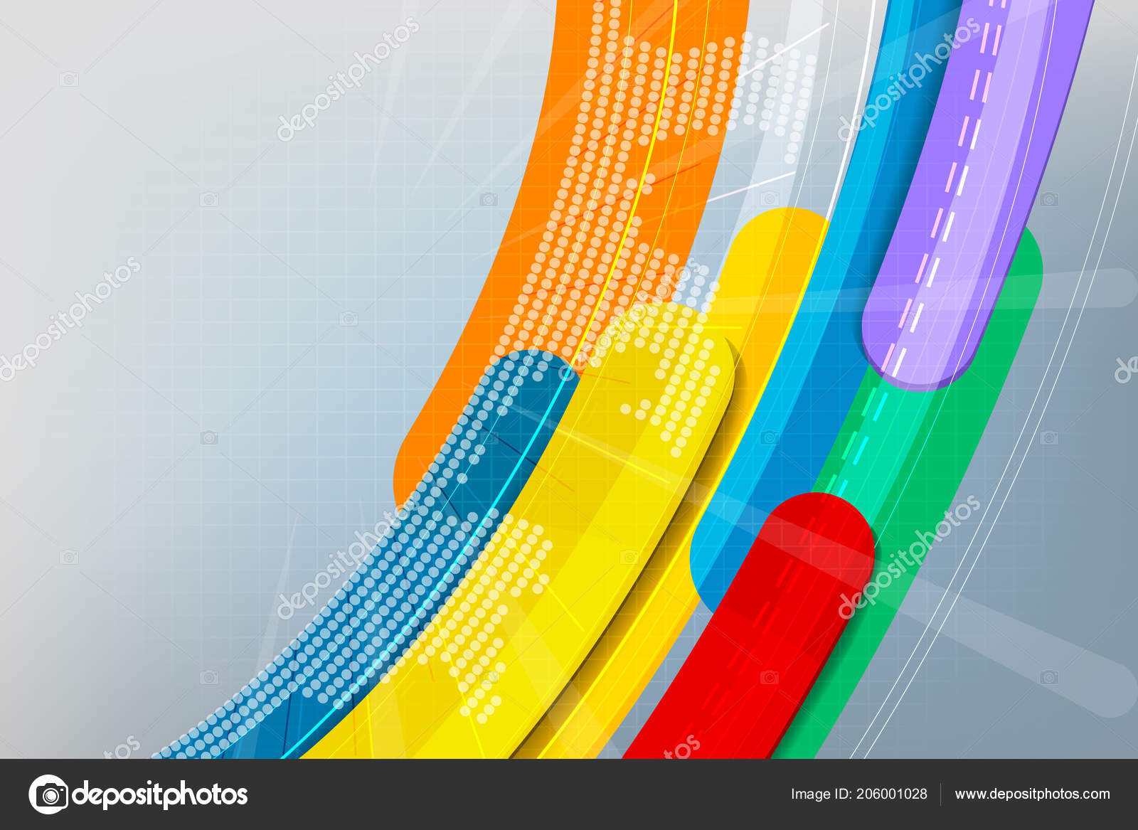 Colors Curvy Motion Graphics Concepts Vector Abstract