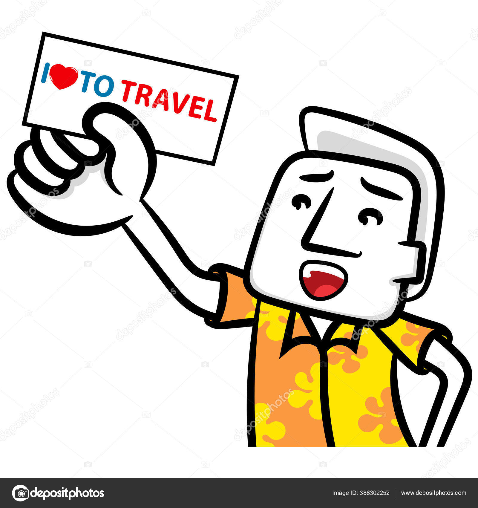 depositphotos 388302252 stock illustration white man cartoon love travel