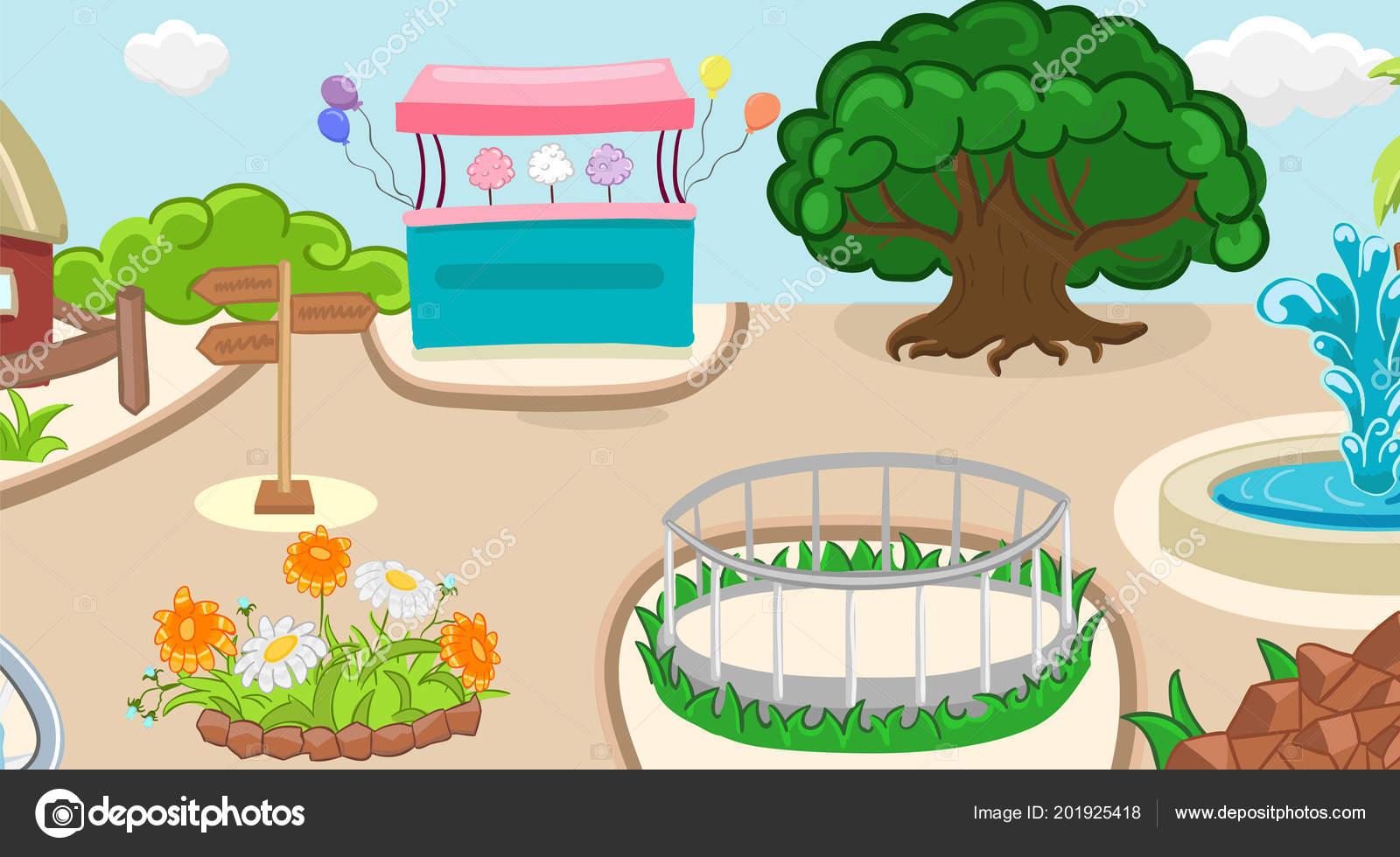 Pamuk şeker Kılavuzu çiçekler Ile Hayvanat Bahçesi Arka Plan Boyama