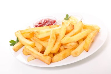 fried french fries and sauce