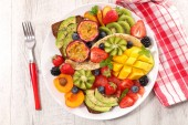 colorful healthy eating on background,close up