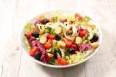 mixed vegetable salad, close up view