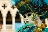 Fotografie traditionelle Karneval in Venedig, Porträt von Menschen mit Maske