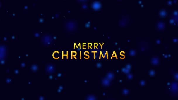 Boldog karácsonyt szöveg- kék éjszaka és hóesés háttér