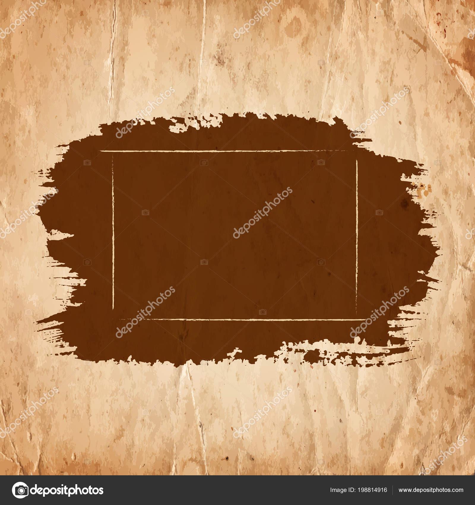 Blanc Cadre Brut Vide Dessin Sur Fond Papier Ancien
