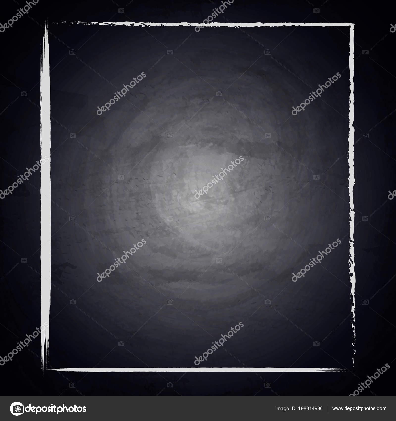 blank drawing empty frame chalkboard background vector illustration