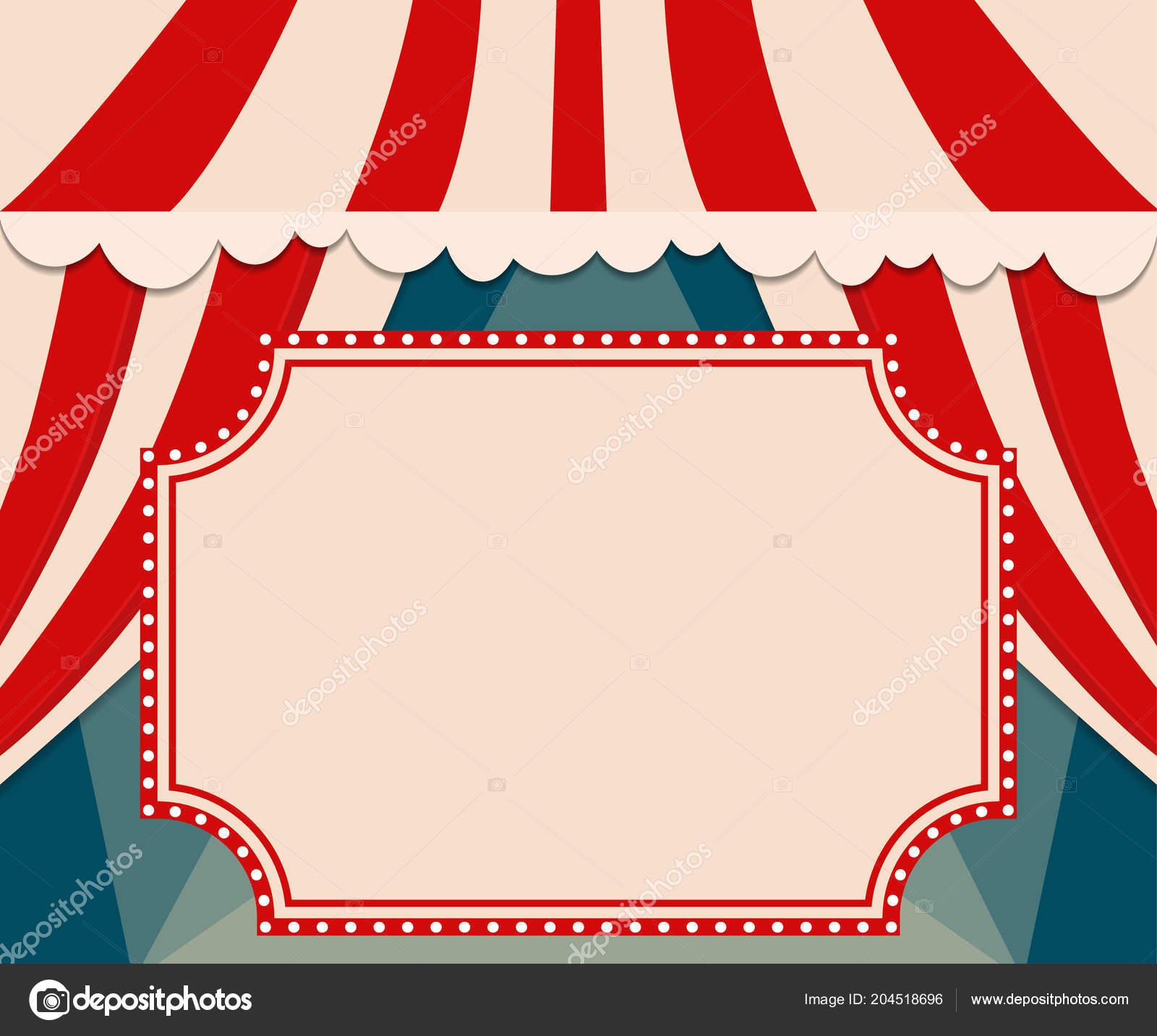 poster template retro circus banner design presentation concert show