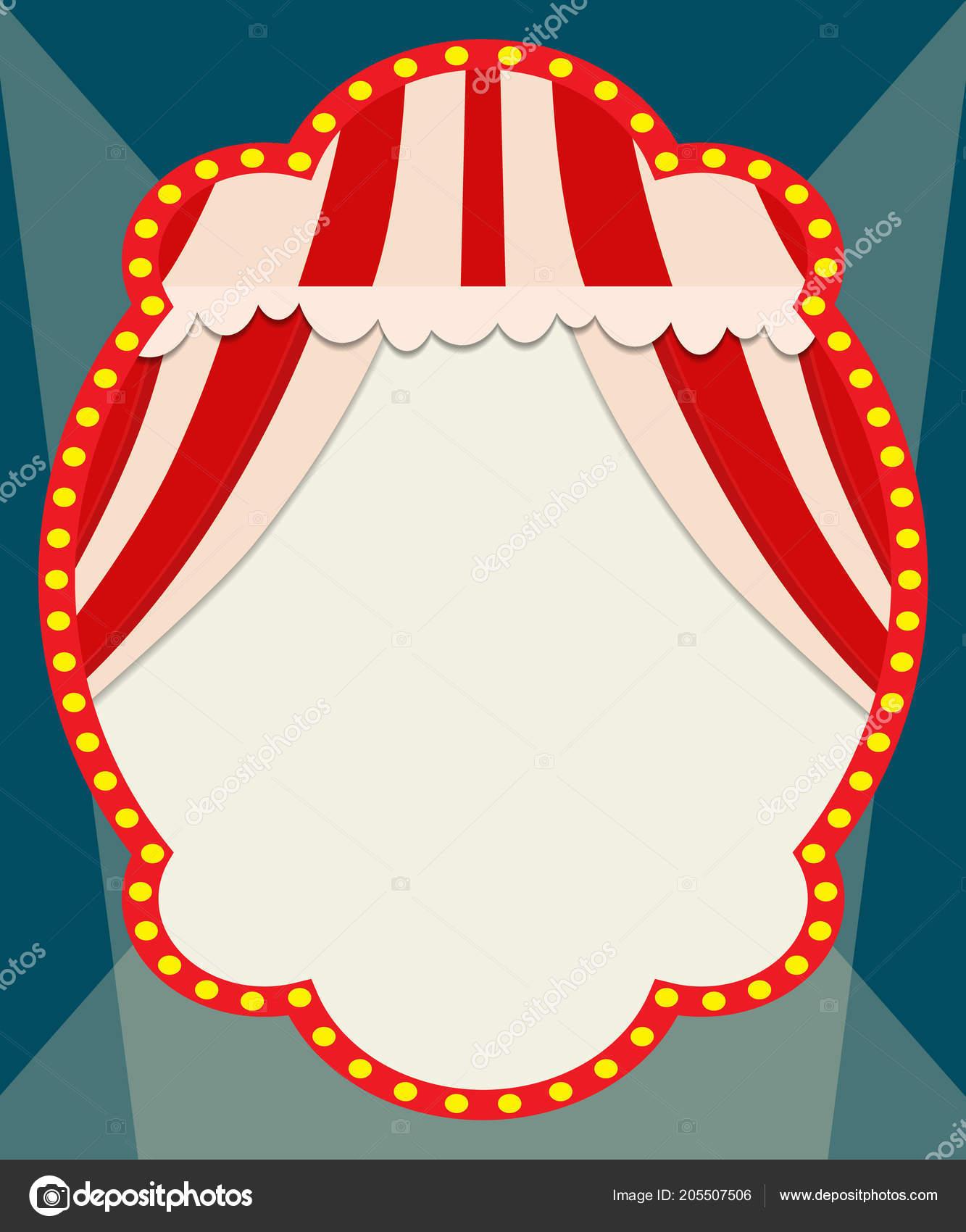 Poster Template Retro Circus Banner Design Presentation Concert Show Vector Stock