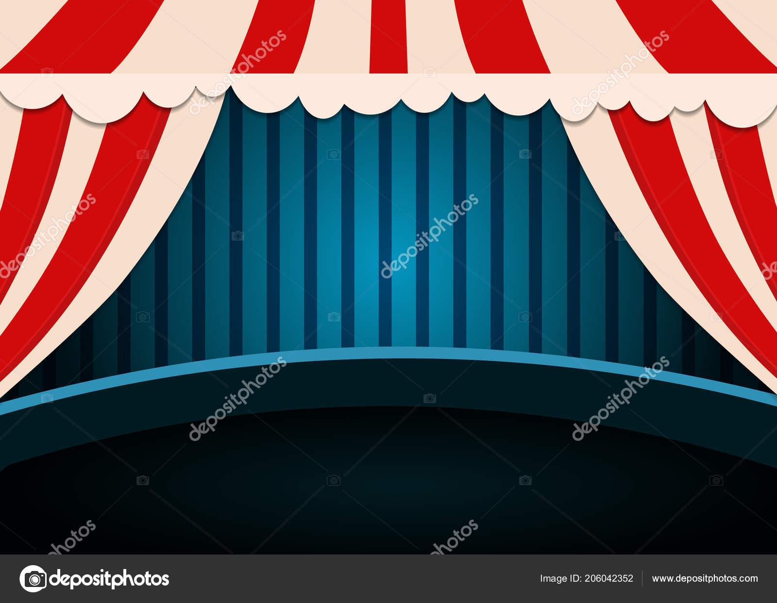 circus show poster template curtains design presentation concert