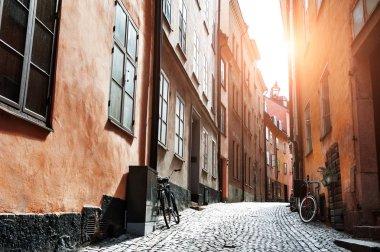 """Картина, постер, плакат, фотообои """"beautiful street in old town, stockholm, sweden"""", артикул 267518670"""