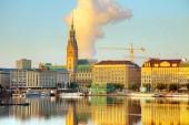 Stadtbild von Hamburg, morgen