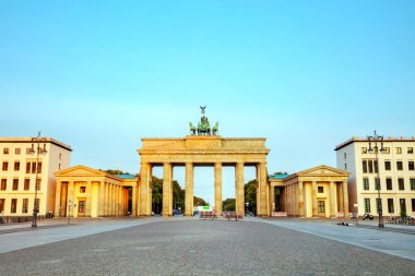 Brandenburg gate, Brandenburger Tor in Berlin, Germany at sunrise