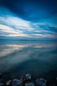 Balatoni naplemente természet festői kilátás