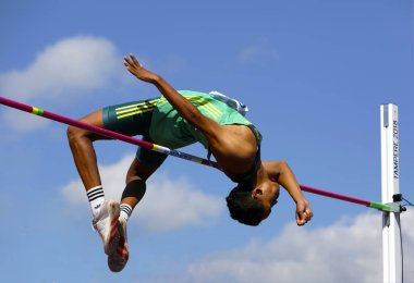 BREYTON POOLE (RSA) win bronze medal in high jump on the IAAF World U20 Championship Tampere, Finland 14th July, 2018.