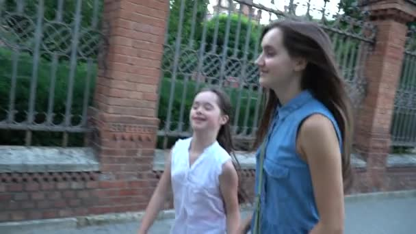 Down syndrome girl slow motion