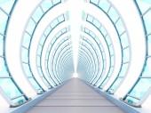alagút futurisztikus bordázat