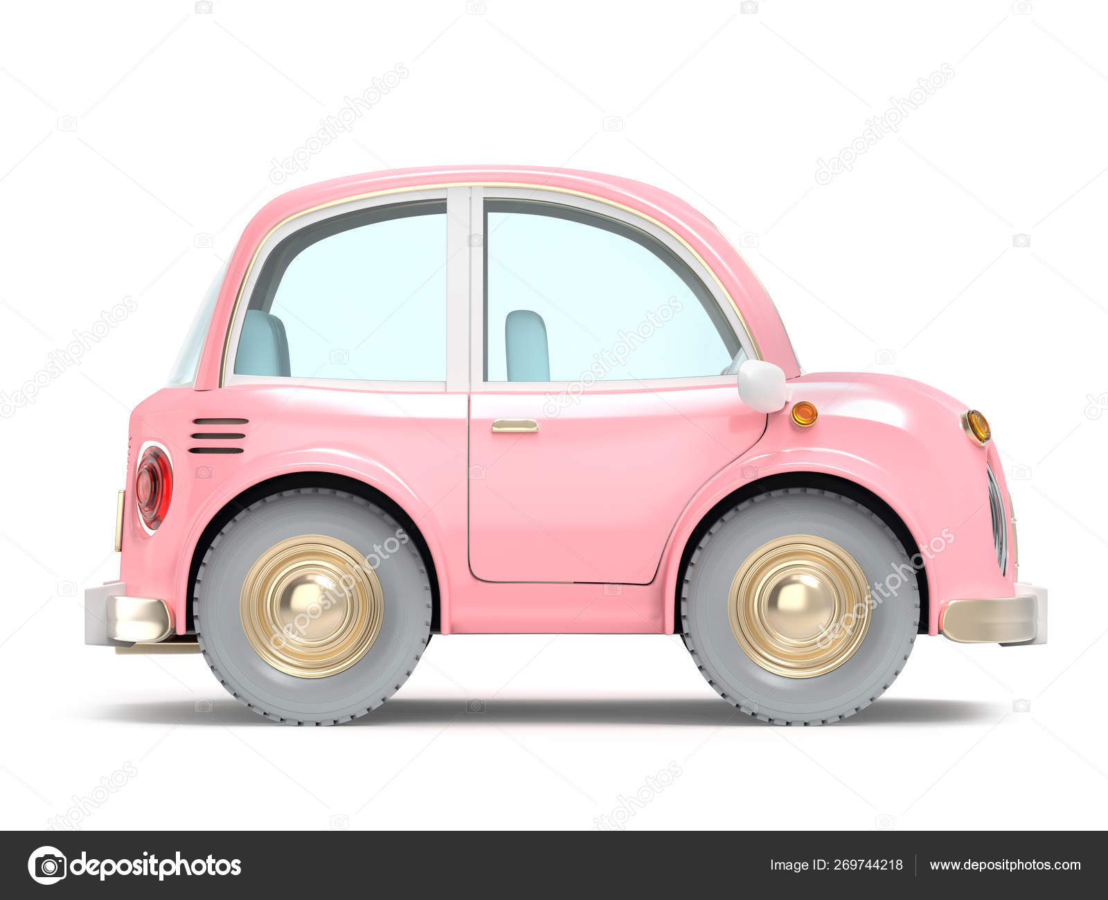 Car Small Cartoon Pink Side Stock Photo Image By C Ilterriorm 269744218