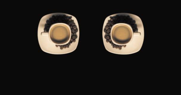 Két csésze kávé forgó