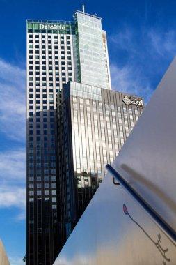 ROTTERDAM, THE NETHERLANDS - NOVEMBER 9: Skyscrappers in Rotterdam, The Netherlands on November 9, 2014.