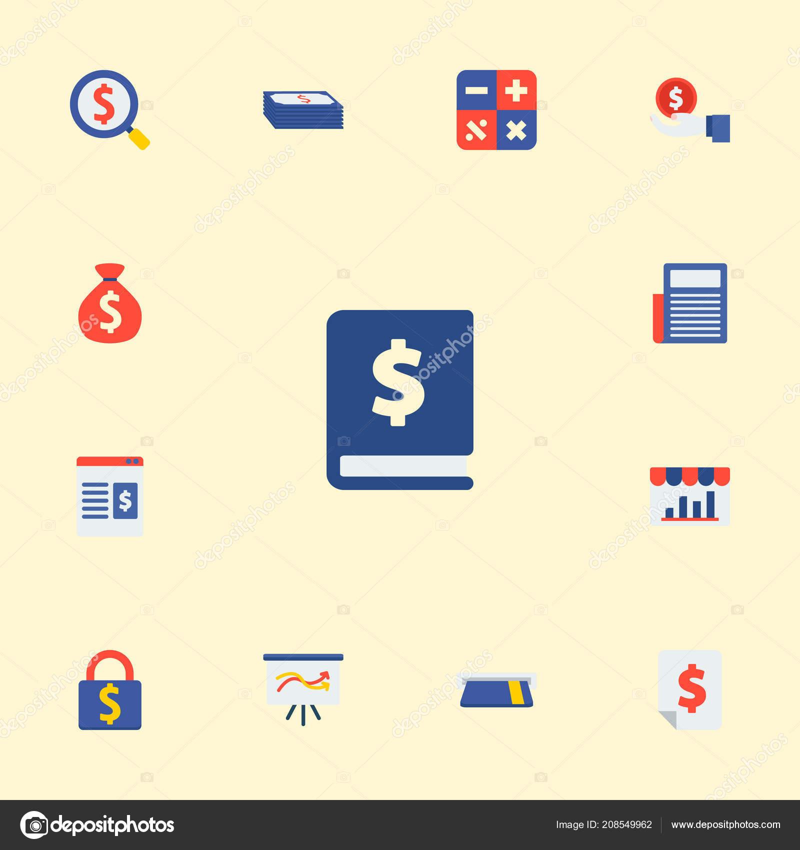 Ricerca Per Immagini Mobile insieme di simboli di stile piano delle icone di finanza con