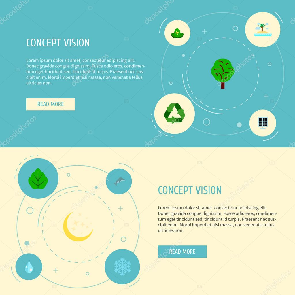 Set of environment icons flat style symbols with solar panel, drop, moonlight and other icons for your web mobile app logo design.