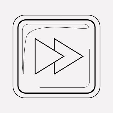 Forward button icon line element.  illustration of forward button icon line isolated on clean background for your web mobile app logo design. stock vector