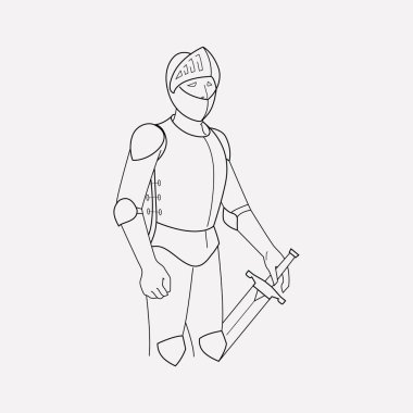 Knight icon line element.  illustration of knight icon line isolated on clean background for your web mobile app logo design.