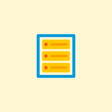Database icon flat element.  illustration of database icon flat isolated on clean background for your web mobile app logo design.