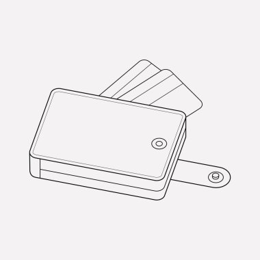 Wallet icon line element.  illustration of wallet icon line isolated on clean background for your web mobile app logo design.